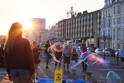 Brighton bubbles, seafront