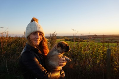 Me and Binky up the South Downs