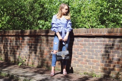 Zara top, Topshop Jeans, Gucci Marmont Bag, Topshop Shoes, Primark Glasses